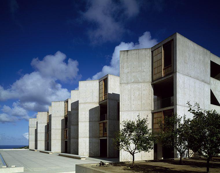 Salk Institute for Biological Studies,La Jolla, Kalifornia,USA,proj. Louis Kahn,fot.Carol M. Highsmith Archive,Library of Congress,domena publiczna