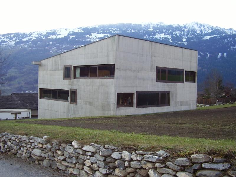Szkola w Paspels,Szwajcaria,proj.Valerio Olgiati,fot.ac